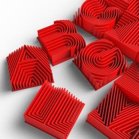 热浪型3D打印字面/版面